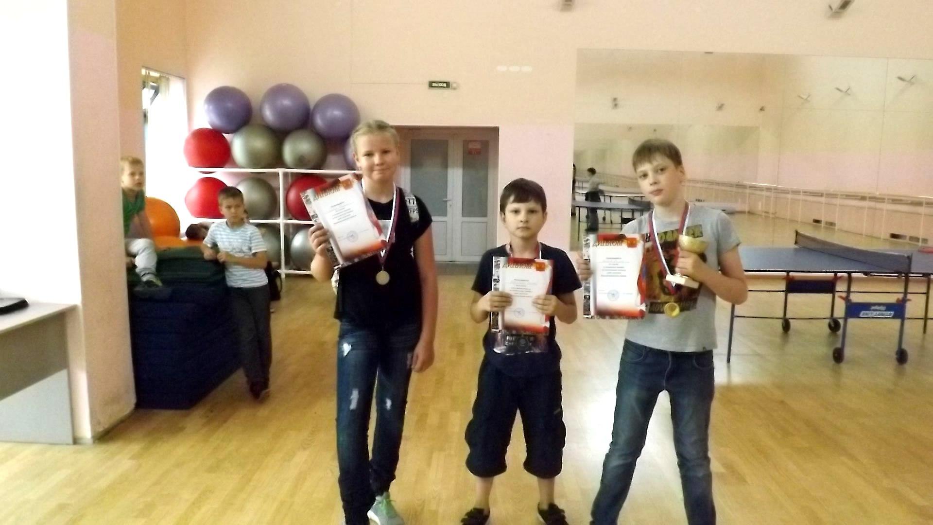 Соревнования по настольному теннису среди детей и подростков