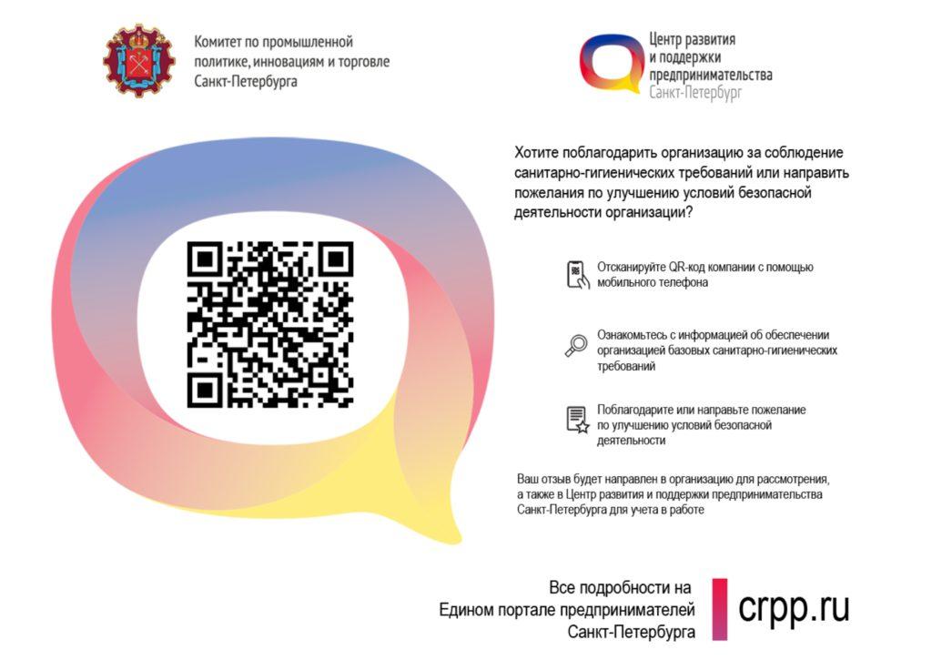 QR код Комитет по промышленной политике, инновациям и торговле Санкт-Петербурга