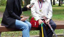 Сегодня в парке Василеостровец состоялась встреча с почётным жителем Санкт-Петербурга — Груздевым Владиленом Васильевичем!