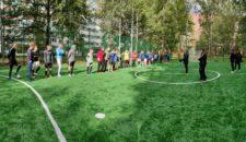 Открытие внутридворовой спортивной площадки на Наличной 36 к. 6-7 прошло под названием «Битва на Наличке».