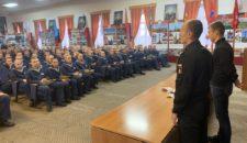 Торжественная церемония награждения знаками отличия ВФСК ГТО для военнослужащих ОУЦ ВМФ