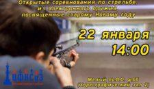 Приглашаем на открытые соревнования по стрельбе из электронного оружия,посвященные старому Новому году